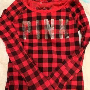 Va pink flannel shirt